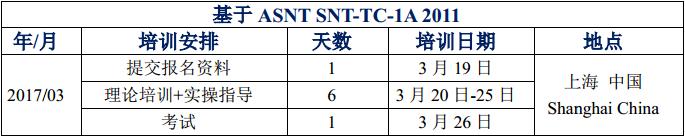 ASNT二级培训